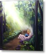 In God's Hand Metal Print by Connie Townsend