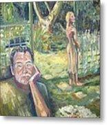 In The Garden Metal Print by Ellen Howell
