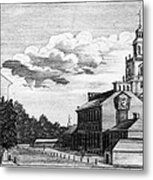 Independence Hall, 1778 Metal Print