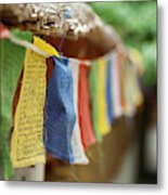 India, Ladakh, Alchi, Colorful Buddhist Metal Print