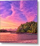 Indian Ocean Sunset Metal Print