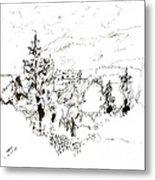 Ink Sketch Metal Print