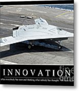 Innovation Inspirational Quote Metal Print
