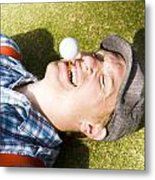 Insane Sport Nut Crazy About Golf Metal Print