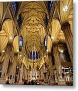 Inside St Patricks Cathedral New York City Metal Print