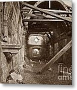 Interior Of Old Mission Church At Carmel Mission California  Circa 1880 Metal Print