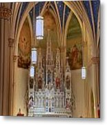 Interior Of St. Mary's Church Metal Print