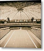 Interior Of The Old Astrodome Metal Print