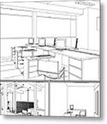 Interior Office Rooms Metal Print