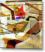 Interstate 10- Exit Out West- Where Life Begins New- Rectangle Remix Metal Print