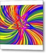 Inverted Rainbow Spiral Metal Print