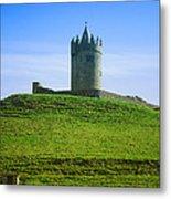 Irish Castle On Hill Metal Print