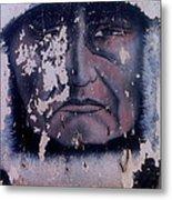 Iron Eyes Cody Homage The Big Trail 1930 The Crying Indian Black Canyon Arizona 2004 Metal Print