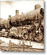 Iron Horse Boneyard Metal Print