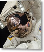Iss Expedition 38 Spacewalk Metal Print