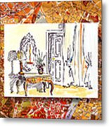 Italy Sketches Venice Hotel Metal Print