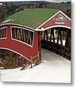 Jackson Cross Country Skiing Bridge Metal Print
