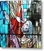 Jesus Healing The Blind Man Metal Print