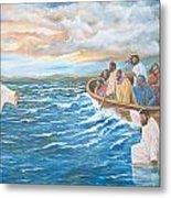 Jesus Walking On Water Metal Print