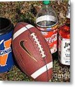 Jim Beam Coke And Football Metal Print