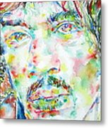 Jimi Hendrix Watercolor Portrait.1 Metal Print