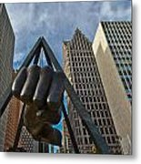Joe Louis Fist In Detroit  Metal Print