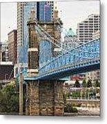 John Roebling Bridge 1867 Metal Print