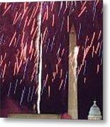 July 4th Fireworks Metal Print by JP Tripp
