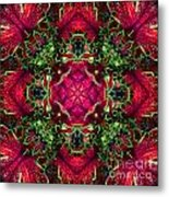 Kaleidoscope Made From An Image Of A Coleus Plant Metal Print