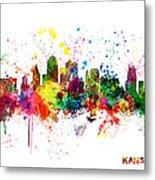 Kansas City Skyline Metal Print