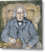 Karl Theodor Weierstrass (1815-1897) Metal Print
