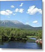 Katahdin From Abol Bridge Metal Print