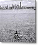 Kayaking Elliot Bay Metal Print
