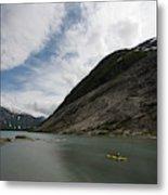 Kayaking To The Nigardsbreen Glacier Metal Print