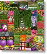 Keukenhof Gardens Collage Metal Print