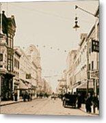 King Street In Charleston South Carolina Circa 1910 Metal Print