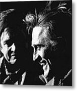 Kirk Douglas Laughing Johnny Cash Old Tucson Arizona 1971 Metal Print