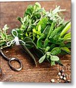 Kitchen Herbs Metal Print