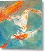 Koi Metal Print by Robert Jensen