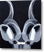Kudu Black Metal Print