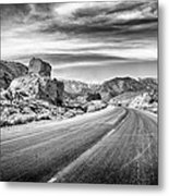 Kyle Canyon Road Metal Print