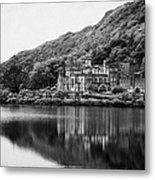 Kylemore Abbey Reflected In The Lake Connemara Galway Ireland Metal Print