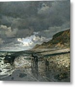 La Pointe De La Heve At Low Tide Metal Print