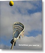 Lacrosse Reach Higher Metal Print