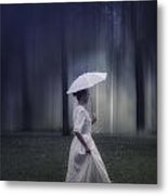 Lady In The Woods Metal Print by Joana Kruse
