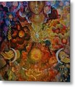Lady Of The Divine Current Metal Print