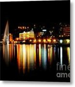 Lake At Night Metal Print