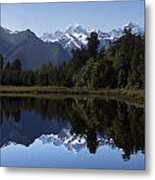 Lake Matheson New Zealand Metal Print