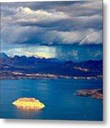 Lake Mead Afternoon Thunderstorm Metal Print