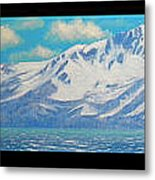 Lake Tahoe After The Storm Triptych Metal Print